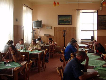 Restaurace Na Růžku - během oběda