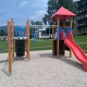 Dětské a sportovní hřiště v panelovém sídlišti